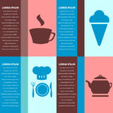 Beautiful cards for cafe or restaurant Royalty Free Stock Image