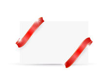 Beautiful cards with red gift and ribbons Royalty Free Stock Images