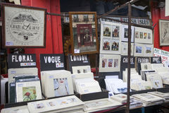 Beautiful cards for sale in the Portobello market near Notting Hill Gate London Royalty Free Stock Image