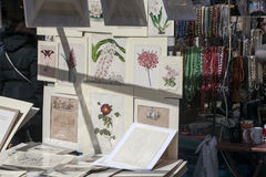 Beautiful cards for sale in the Portobello market near Notting Hill Gate London Royalty Free Stock Photos