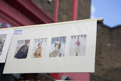 Beautiful cards for sale in the Portobello market near Notting Hill Gate London Stock Photos