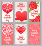 Beautiful cards for Valentines Day Stock Photo