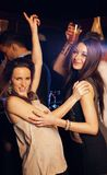 Beautiful Girls Party Hard on the Dance Floor Stock Photo