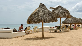 Beautiful Caribbean beach. At Punta Cana Royalty Free Stock Photography