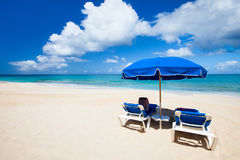 Beautiful Caribbean beach Royalty Free Stock Images