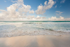 Beautiful Caribbean beach, Cancun, Mexico Stock Photography