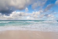 Beautiful Caribbean beach, Cancun, Mexico Stock Photo