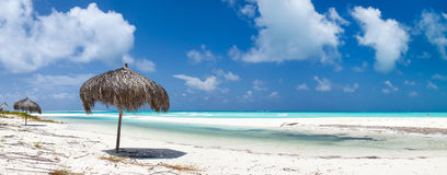 Beautiful Caribbean beach panorama Royalty Free Stock Photo