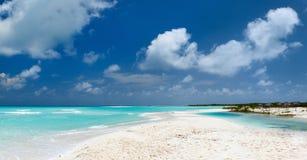 Beautiful Caribbean beach panorama Royalty Free Stock Photography
