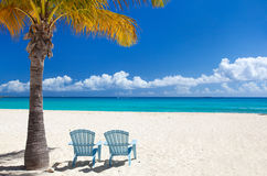Beautiful Caribbean beach. Perfect Caribbean beach on Anguilla island Royalty Free Stock Images