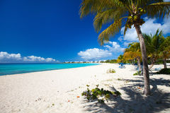 Beautiful Caribbean beach. Perfect Caribbean beach on Anguilla island Royalty Free Stock Photography