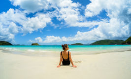 Beautiful Caribbean beach Stock Photography