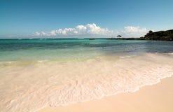 Beautiful caribbean beach in the Riviera Maya. Mexico Stock Photo