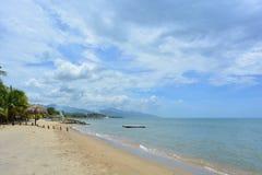 Beautiful caribbean beach of Trujillo, Honduras. The beach of the colonial town of Trujillo, in Honduras Stock Photography