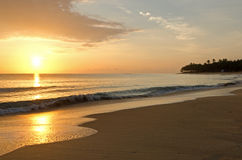 Beautiful Caribbean Sunrise. Excellence Resort Punta Cana Sunrise Royalty Free Stock Photos