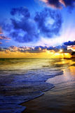 Beautiful Caribbean sunrise. Morning sky Stock Image