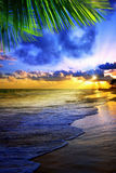 Beautiful Caribbean sunrise. Stock Photo