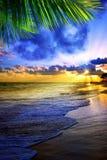 Beautiful Caribbean sunrise. Morning sky Stock Photo