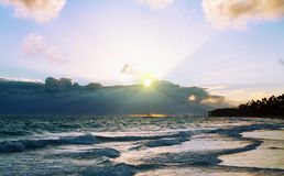 Beautiful Caribbean sunrise. Stock Photography