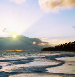 Beautiful Caribbean sunrise. Stock Image