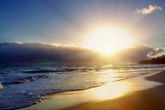 Beautiful Caribbean sunrise. Morning sky Royalty Free Stock Image