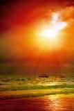 Beautiful Caribbean sunset. Stock Photos
