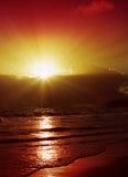 Beautiful Caribbean sunset. Stock Images