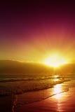 Beautiful Caribbean sunset. Royalty Free Stock Image