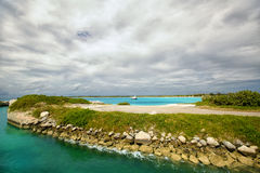 Beautiful caribbean view. Royalty Free Stock Photography