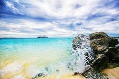 Beautiful caribbean view. Stock Image