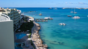 Beautiful Caribbean Waters Stock Photography