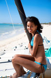 Beautiful caribbean  woman smile Stock Image