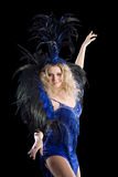 Carnival dancer in costume of feathers. Stock Photos