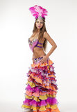 Beautiful carnival dancer, amazing costume Royalty Free Stock Photo
