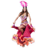 Beautiful carnival dancer, amazing costume Royalty Free Stock Photography