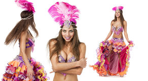 Beautiful carnival dancer, amazing costume Stock Image
