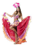 Beautiful carnival dancer, amazing costume Stock Photos