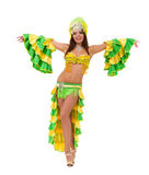 Beautiful carnival dancer dancing Royalty Free Stock Images
