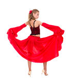 Beautiful carnival dancer posing Stock Photos