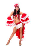 Beautiful carnival dancer posing Stock Image