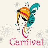 Beautiful carnival girl Royalty Free Stock Photos