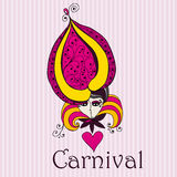 Beautiful carnival girl Royalty Free Stock Photos
