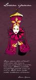 Beautiful carnival girl royalty free illustration