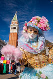 Beautiful carnival mask on San Marco square in Venice, Italy Royalty Free Stock Images