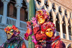 Beautiful carnival mask on San Marco square in Venice, Italy Stock Photography