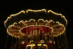 Beautiful carousel in the New Year holidays Stock Photography
