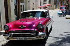 Beautiful cars of  Cuba, Havana Royalty Free Stock Image