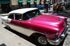Beautiful cars of  Cuba, Havana Royalty Free Stock Images