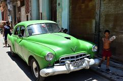 Beautiful cars of  Cuba, Havana streets Royalty Free Stock Photo