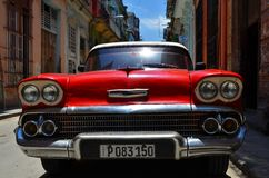 Beautiful cars of  Cuba, Havana streets Royalty Free Stock Images